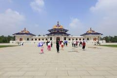 成吉思汗陵墓,多孔黏土rgb 免版税库存图片