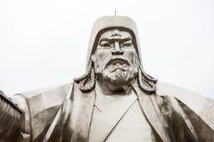 成吉思汗骑马者雕象 免版税图库摄影