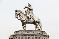 成吉思汗骑马者雕象 图库摄影