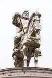 成吉思汗骑马者雕象 免版税库存照片