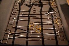 成套工具外科器械和工具 库存图片
