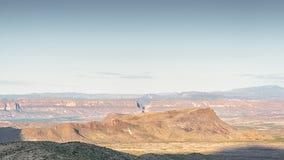 成套工具山,圣埃伦娜峡谷, Sotol景色俯视,大弯曲国家公园, TX 免版税库存照片