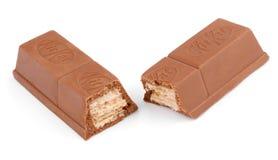 成套工具Kat糖果巧克力块特写镜头  免版税库存照片