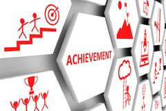 成就概念细胞背景 向量例证
