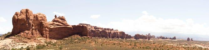成拱形国家公园全景 免版税库存图片