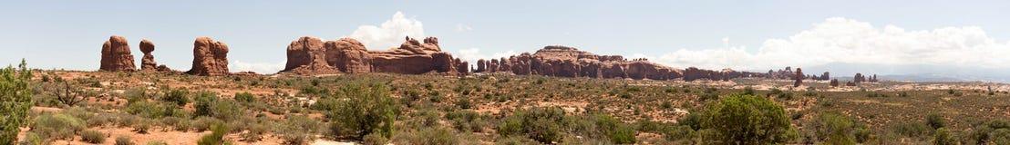 成拱形国家公园全景 库存图片