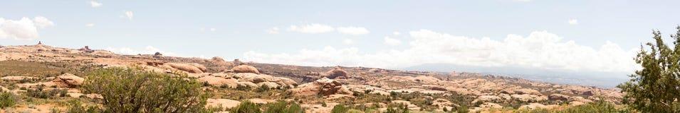 成拱形国家公园全景 免版税库存照片