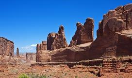 成拱形国家公园全景 库存照片