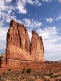 成拱形国家公园视图 免版税图库摄影
