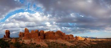 成拱形国家公园风景美国犹他视图 免版税库存照片