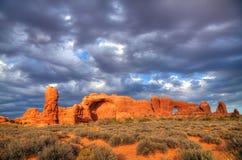 成拱形国家公园风景美国犹他视图 免版税库存图片