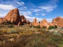成拱形国家公园,犹他,美国 免版税库存图片