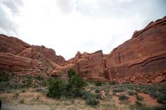 成拱形国家公园,犹他,美国 库存图片