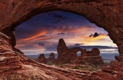 成拱形国家公园,犹他,美国 库存照片