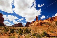 成拱形国家公园,犹他,美国 免版税库存照片