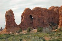 成拱形大象国家公园岩石 免版税图库摄影