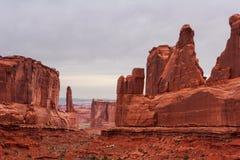 成拱形大道国家公园 库存照片