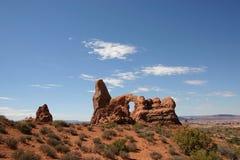 成拱形形成岩石砂岩 免版税库存照片
