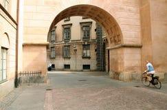 成拱形自行车哥本哈根 免版税图库摄影