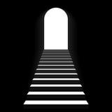 成拱形门的楼梯 免版税库存照片