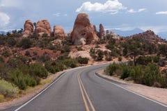 成拱形高速公路国家公园 库存照片
