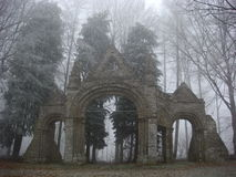 成拱形herefordshire shobdon 库存图片