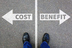 成本-效益分析的损失赢利提供经费给财政成功公司busi 库存图片