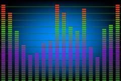成水平音乐噪声 库存例证