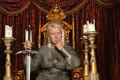 成熟中世纪骑士 库存图片