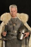 成熟中世纪骑士 库存照片