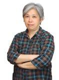 成熟亚裔妇女 免版税库存照片
