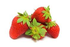 成熟几个草莓 免版税库存图片