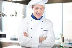 成熟厨师画象 免版税库存图片