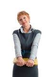 成熟可爱的女实业家 免版税库存照片
