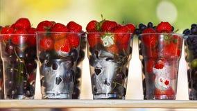 成熟和水多的莓果 夏天礼物 免版税库存照片