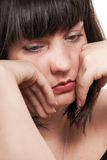 成熟哀伤的妇女 免版税库存照片
