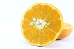 成熟在白色背景的普通话柑橘被隔绝的蜜桔橘子 免版税库存图片