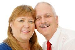 成熟夫妇的headshot 库存照片