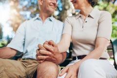 成熟夫妇藏品现有量 免版税图库摄影