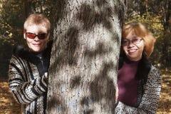 成熟年龄的两名妇女 图库摄影