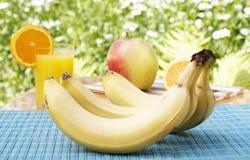 成熟开胃的新鲜水果 库存图片