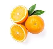 成熟新鲜的桔子 免版税库存图片