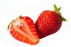 成熟新鲜的草莓特写镜头 库存图片