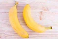 成熟新鲜的香蕉 免版税库存图片