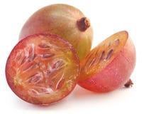成熟新鲜的鹅莓 库存照片