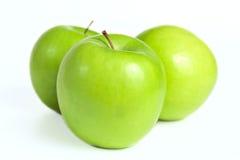 成熟新鲜的绿色苹果 免版税图库摄影