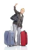 成熟旅游妇女 库存照片