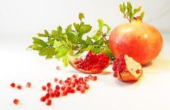 成熟果子的石榴 图库摄影