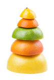 成熟果子金字塔  库存图片