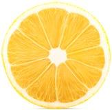成熟柠檬切成了两半 库存图片